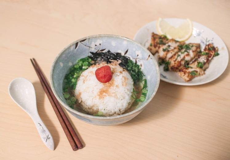 shiso ochazuke green tea rice toffee nosed rai recipe